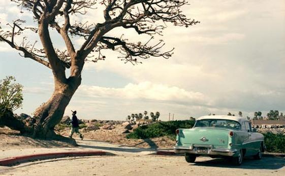 Un'auto degli anni Sessanta in Arizona