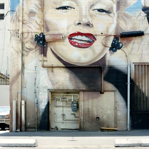 Murales con Marilyn Monroe