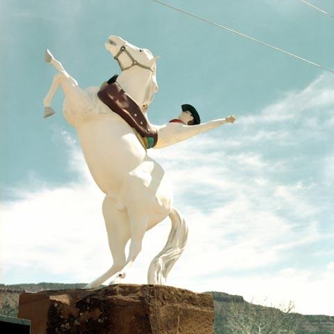 Cowboy nel paesaggio texano