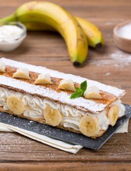 Millefoglie con banane