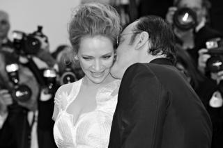 Uma Thurman con Quentin Tarantino nel 2014