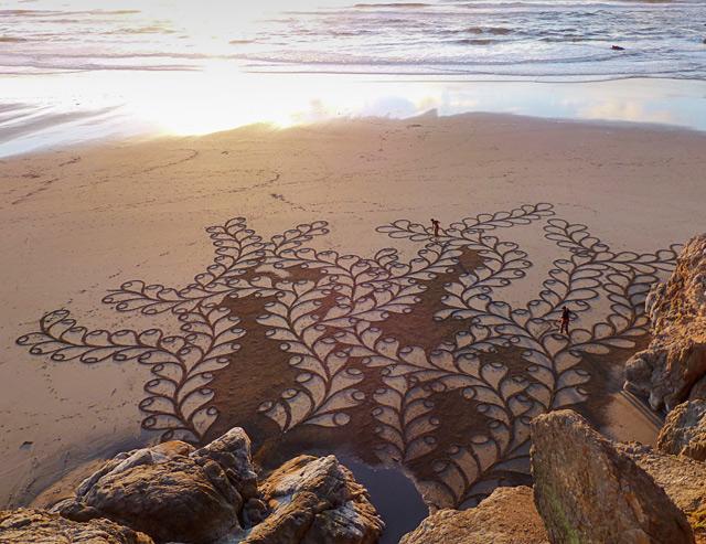 Andres Amador artista delle spiagge